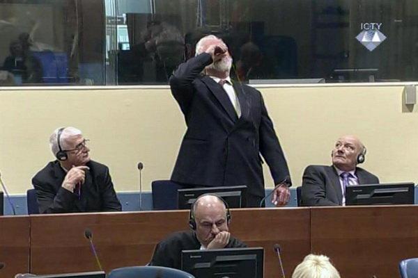 Savaş suçlusu Bosnalı Hırvat general duruşmada 'zehir içti'