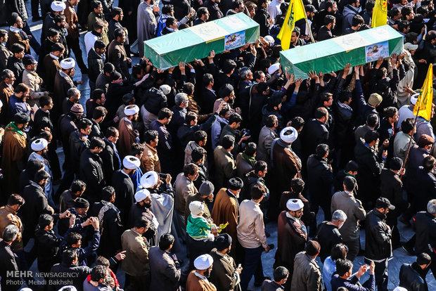 پیکر پنج شهید مدافع حرم در قم