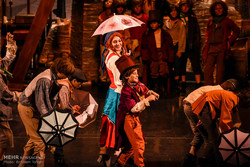 Oliver Twist musical on stage in Tehran