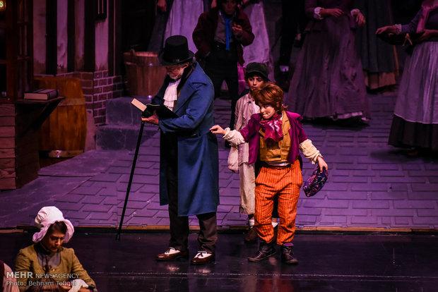 Oliver Twist musical on stage in Tehran