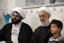 دیدار آیت الله صدیقی با خانواده دو شهید تیپ فاطمیون