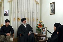 Ayatollah Khamenei visit's Martyr Majid Shahriari family