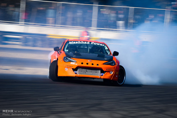 3nd round of drift racing at Azadi Complex
