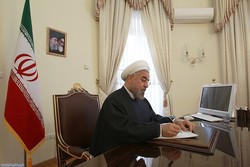 Pres. Rouhani felicitates Romania on National Day