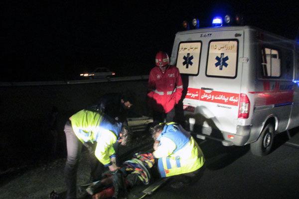 برخورد ۱۷ خودرو در اتوبان قزوین به تهران حادثه آفرید