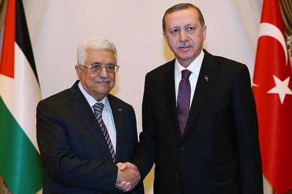 اردوغان با محمودعباس دیدار کرد