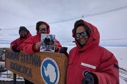 عکس سلفی محققان قطب جنوب به فضا ارسال شد