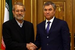 دیدار لاریجانی و رئیس دومای روسیه