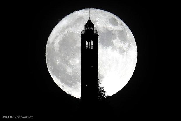 ماه کامل در نقاط مختلف جهان