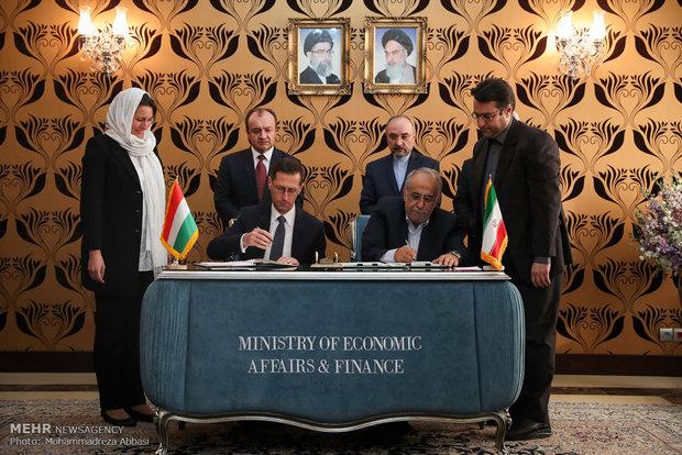 امضای تفاهمنامه تشویق و حمایت از سرمایه ذاری بین ایران و مجارستان
