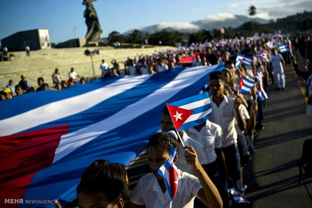 تصاویر/ گرامیداشت یاد کاسترو در کوبا