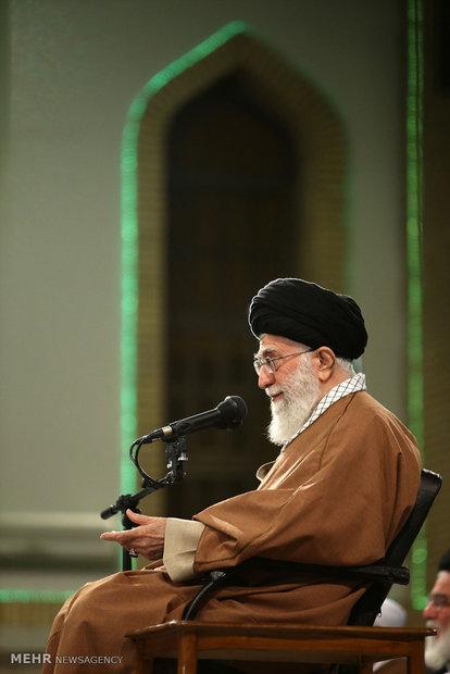 İslam İnkılabı Rehberi'nin bugünkü görüşmesinden kareler