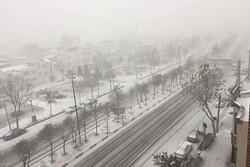 بارش ۲۰ سانتی متری برف درگردنه «چری» چهارمحال و بختیاری