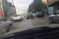 بارش در تبریز و آبگرفتگی معابر