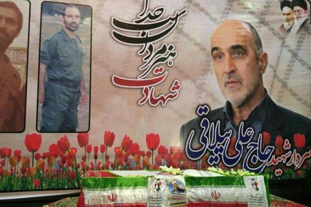 آیین وداع با پیکر سردار علی ییلاقی در بهشهر برگزار شد,