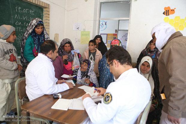 ارائه خدمات بهداشتی و درمانی به مردم روستای تاریخی ماخونیک توسط پدافند هوایی ارتش