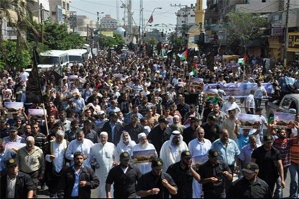 تظاهرات ضد صهیونیستی در نوار غزه/اعتصاب سراسری در اراضی اشغالی