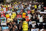 تہران میں امریکہ کے خلاف احتجاجی مظاہرہ