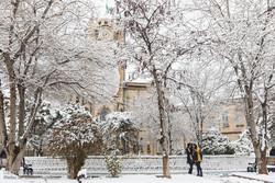 تساقط الثلوج في مدينة تبريز / صور