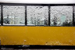 Erdebil kentinde kar yağışı