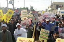 مردم استان بوشهر اقدام جدید رئیس جمهور آمریکا را محکوم کردند
