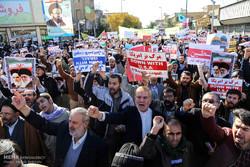 راهپیمایی نمازگزاران جمعه قم در محکومیت انتقال پایتخت رژیم صهیونیستی به بیت المقدس