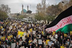 راهپیمایی نمازگزاران جمعه مشهد در محکومیت انتقال پایتخت رژیم صهیونیستی به بیت المقدس