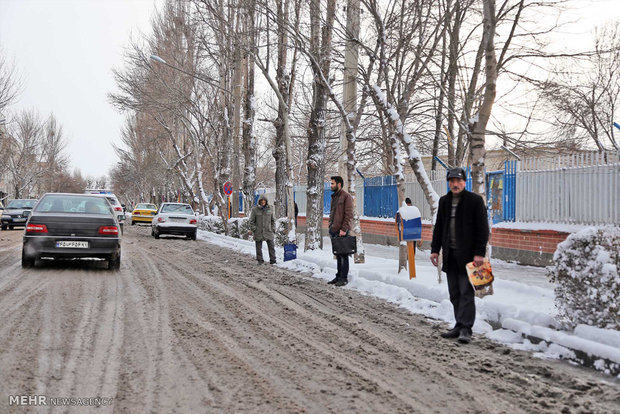 Snow covers Ardabil in N Iran