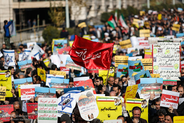 Tahran'daki Siyonist karşıtı gösterilerden kareler