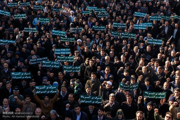 İran'ın dört bir tarafından Siyonist karşıtı gösteriler