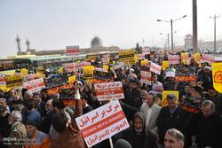 تظاهرات مردم بیرجنددر محکومیت انتقال پایتخت رژیم صهیونیستی به قدس