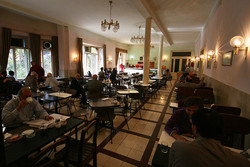 An interior view of Cafe Naderi in downtown Tehran