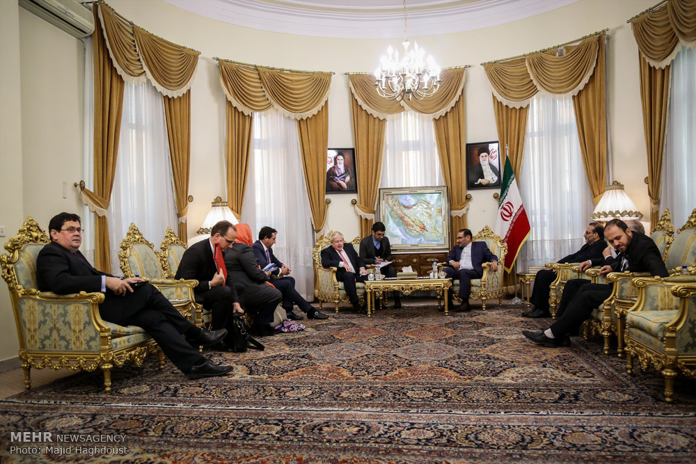 UK Foreign Sec. Johnson received by Rear Admiral Shamkhani