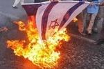 پرچم رژیم صهیونیستی در الازهر به آتش کشیده شد