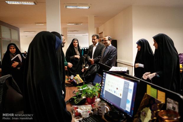 بازدید رئیس بانک قرض الحسنه مهر ایران از خبرگزاری مهر
