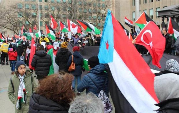 الآلاف يتظاهرون في كندا احتجاجًا على قرار ترامب بشأن القدس