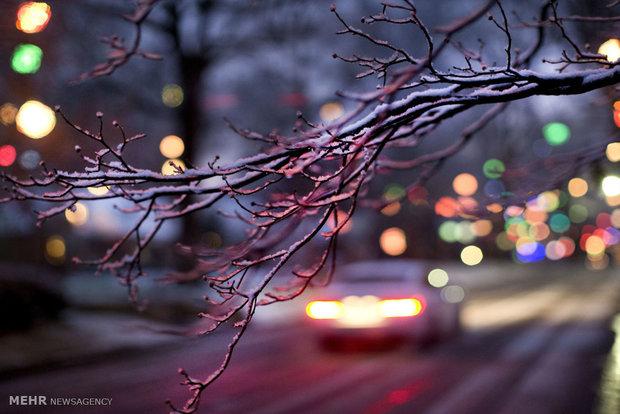 بارش برف زمستانی در آمریکا