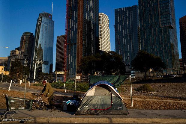 افزایش تعداد بی خانمان های آمریکا