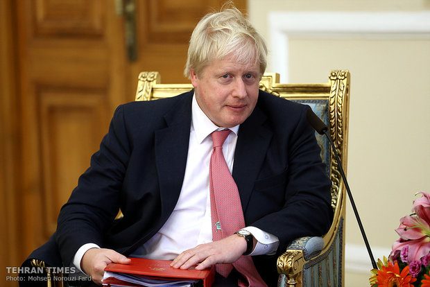 Iran's Larijani meets Boris Johnson