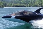 جت اسکی که نیم قایق- نیم زیر دریایی است