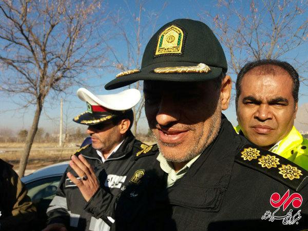 حضور پلیس راه استان کرمانشاه در نقاط حادثه خیز طی طرح زمستانی,