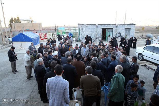 بازدید حجت الاسلام شهیدی از مناطق زلزله زده کرمانشاه