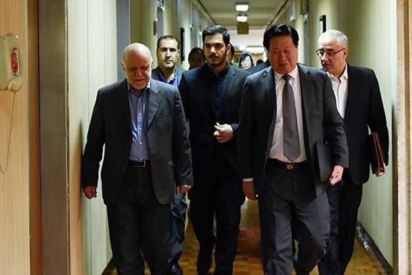 زنگنه و رئیس اتاق بازرگانی چین