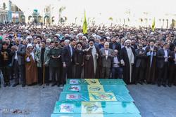 قم میں 7 مدافع حرم  شہیدوں کی تشییع جنازہ