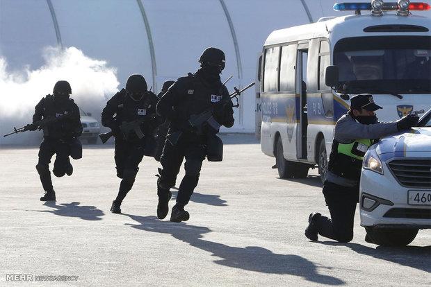 رزمایش ضد تروریستی در کره جنوبی