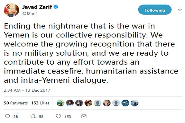 FM Zarif condemns procrastinated war, calls for resolution