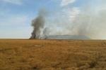 ۶۰ هکتار از مراتع تالاب هامون در آتش سوخت