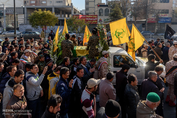 Funeral procession of Iranian martyr in Karaj
