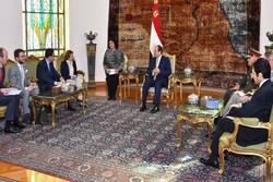 وزیر دفاع فرانسه با رئیس جمهور مصر دیدار کرد