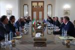 ظريف يلتقي رئيس  المجلس الاعلى بجمهورية نخجوان ذات الحكم الذاتي